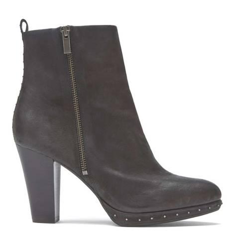 Mint Velvet Black Harper Platform Boot