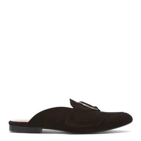Mint Velvet Black Claire Backless Loafer