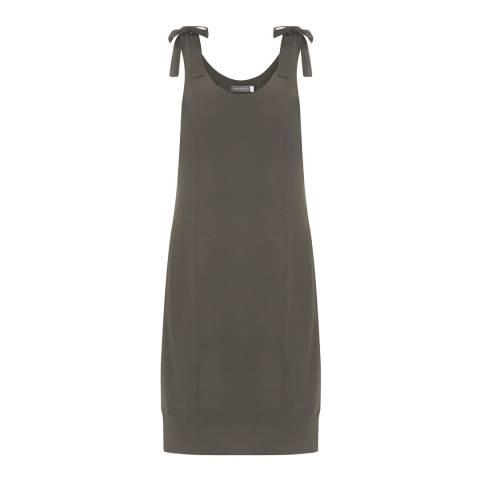 Mint Velvet Khaki Tie Shoulder Dress