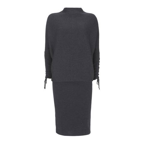 Mint Velvet Charcoal Knitted Batwing Dress