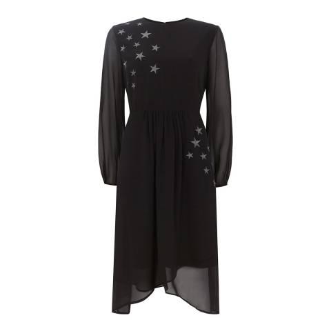 Mint Velvet Black Star Embroidery Dress