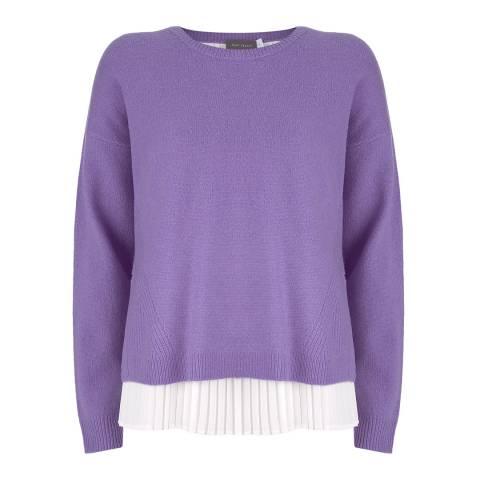 Mint Velvet Violet Pleated Layered Knit