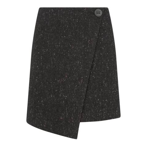 Mint Velvet Charcoal Nepped Mini Skirt
