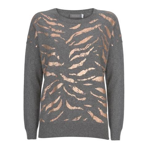 Mint Velvet Granite Animal Foil Print Knit