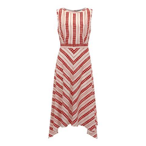 Mint Velvet Red Anita Print Crepe Dress