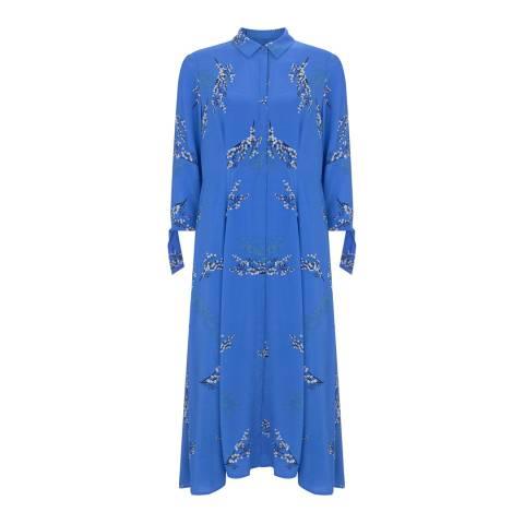 Mint Velvet Blue Blossom Print Shirt Dress