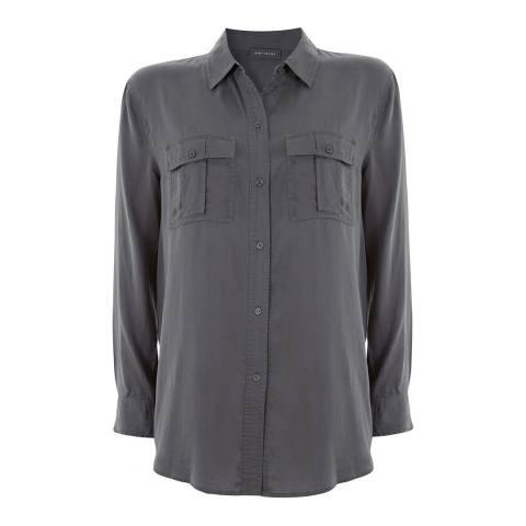 Mint Velvet Khaki Relaxed Shirt