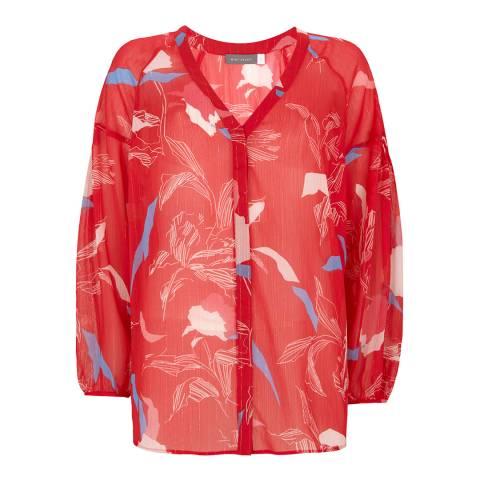 Mint Velvet Red Ruby Print Blouse