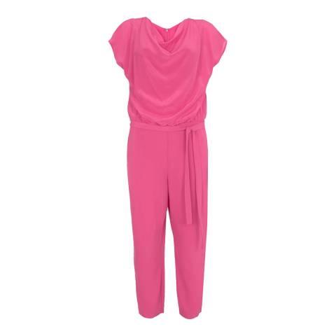 Mint Velvet Pink Cerise Silk Cowl Jumpsuit