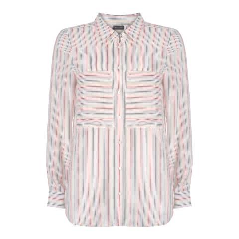 Mint Velvet Ivory & Rainbow Striped Shirt