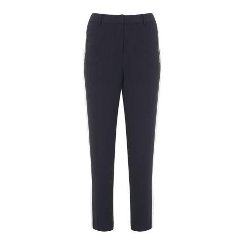 Mint Velvet Ink Luxe Stripe Zip Pant