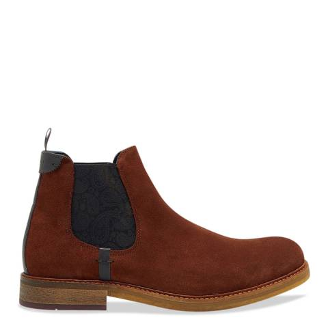 Ted Baker Dark Tan Chelsea Boot
