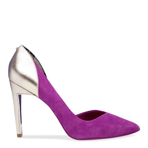 Ted Baker Fuchsia Metallic Court Shoe