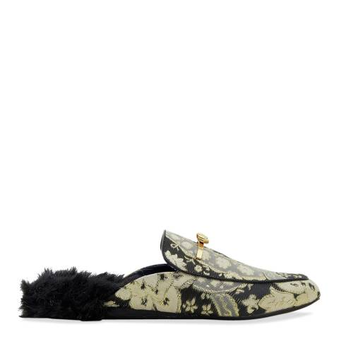 Ted Baker Gold Printed Faux Fur Loafer