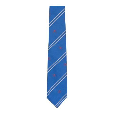Hackett London Cobalt Stripe Club Silk Tie