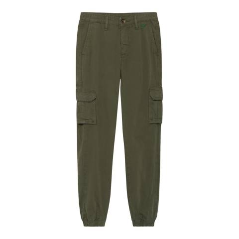 Hackett London Khaki Cotton Stretch Cargo Trousers