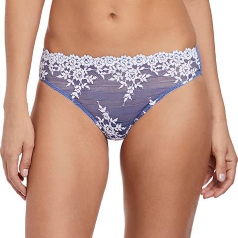 Wacoal Bleached Denim / White Embrace Lace Bikini Brief