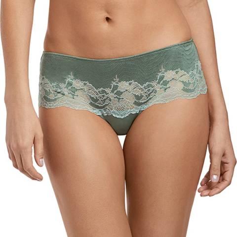 Wacoal Balsam Green / Slate Lace Affair Tanga