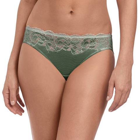 Wacoal Balsam Green / Slate Lace Affair Bikini