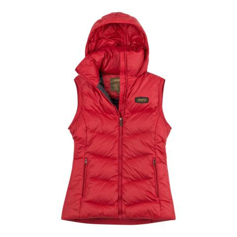 Musto Red Burghley Quilted 2 In 1 Jacket