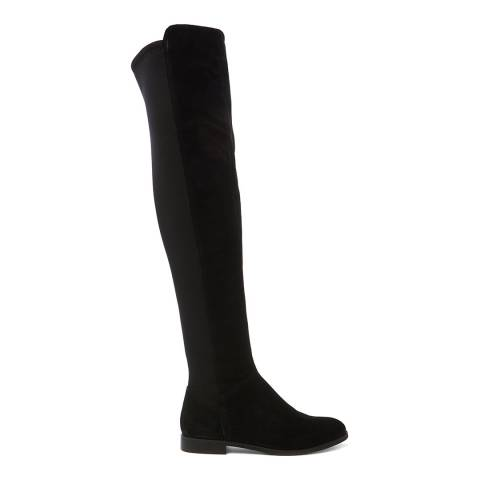 Dune London Black Trial Suede Over The Knee Boot