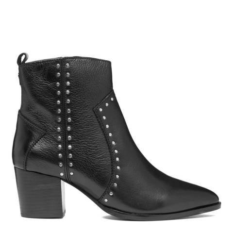 Dune London Black Posie Stud Detail Ankle Boot