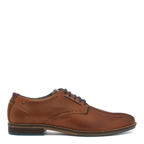 Dune London Tan Brewer Piped Gibson Shoe