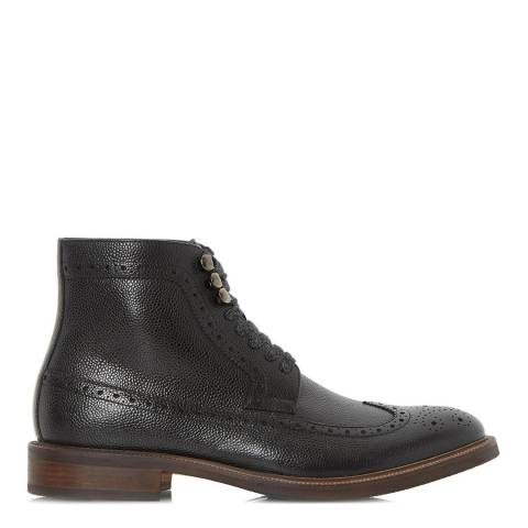 Dune London Black Carnaby Flecked Lace Brogue Boot