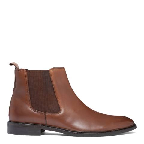 Dune London Tan High Shine Polisher Boots
