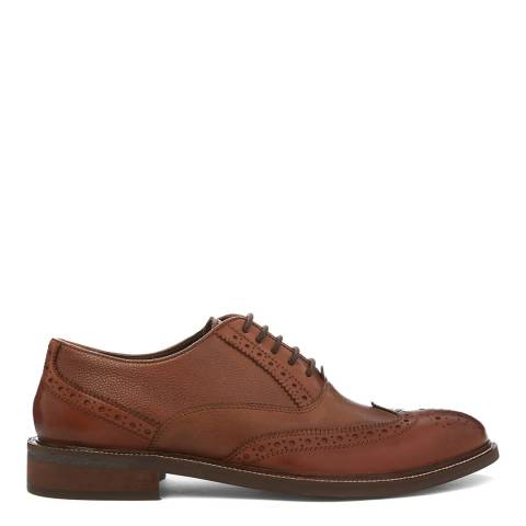 Dune London Tan Rodie Grain Leather Brogue