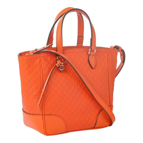 Gucci Orange Gucci Leather Tote Bag
