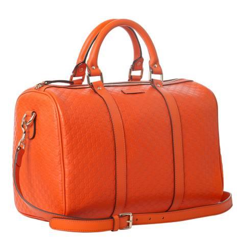 Gucci Orange Gucci Leather Duffle Bag