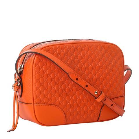 Gucci Orange Gucci Leather Messenger Bag