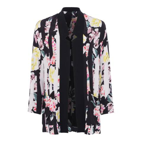 French Connection Black Floral Enshima Oversized Jacket