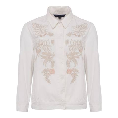 French Connection Cream Elba Denim Oversized Jacket
