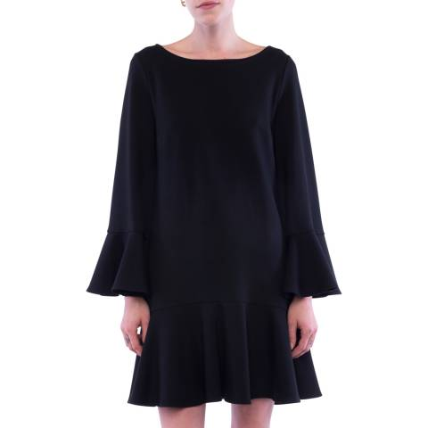 French Connection Black Matuku Lula Bell Sleeve Dress