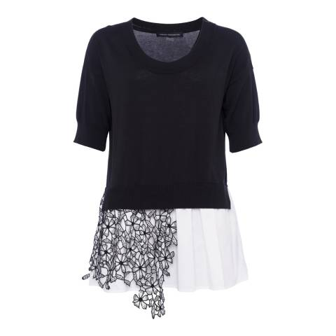 French Connection Black Fulaga Lace Jumper
