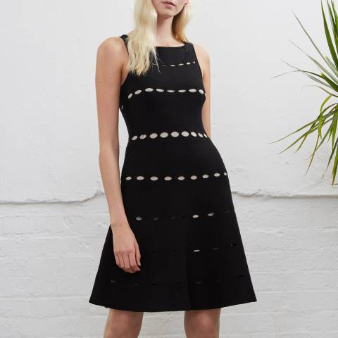 French Connection Black Ruby Flared Dress