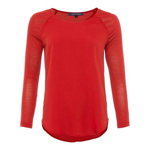 French Connection Red Classic Raglan Top