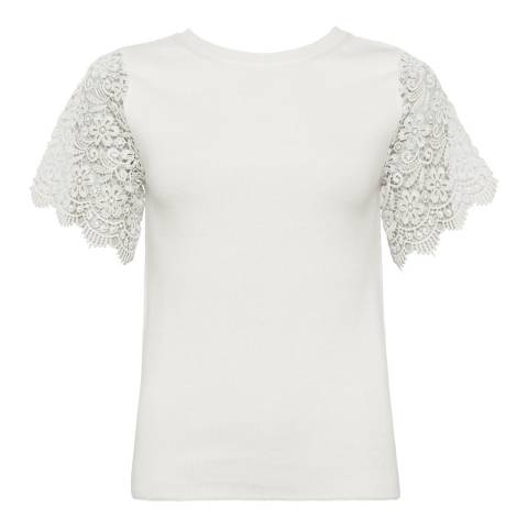 French Connection White Marianne Knit T-Shirt