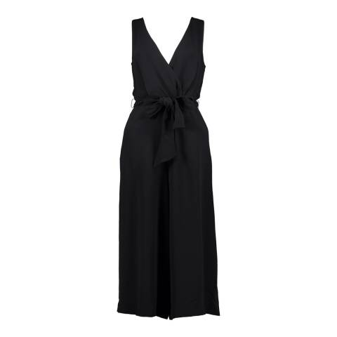 French Connection Black Bessie Crepe Jumpsuit