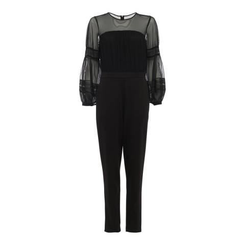 French Connection Black Paulette Jumpsuit