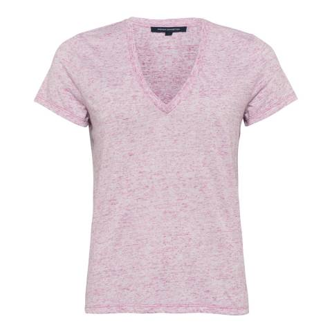 French Connection Pink Hetty V Neck Top