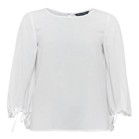 French Connection White Light Crepe Blouse