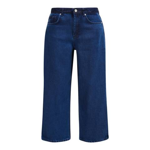 French Connection Blue Encel Denim Wide Leg Culottes