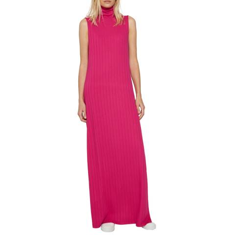 French Connection Pink Syros Jersey Maxi Dress