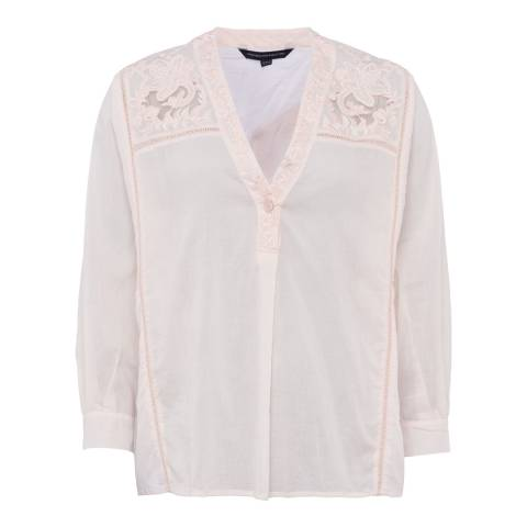 French Connection Pink Avea V-Neck Shirt