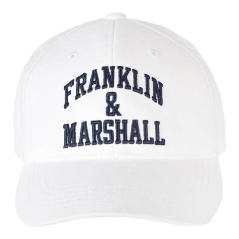 Franklin & Marshall Bright White Franklin Logo Cap