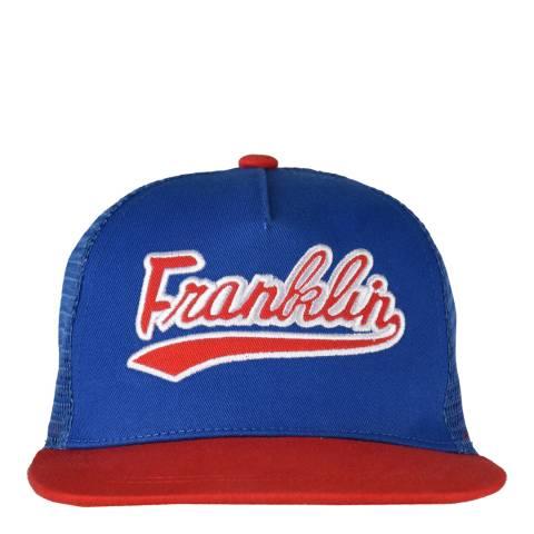 Franklin & Marshall Blue/Red Script Trucker Cap