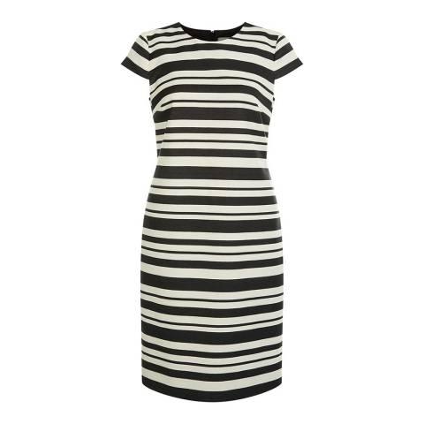 Hobbs London Black Stripe Andara Dress